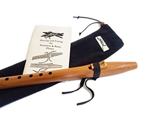 Stellar Basic Flute Key of G - Natural Heartwood Cedar Native American Style Flute with Carrying Case