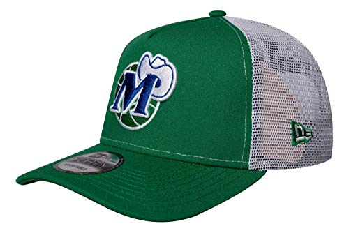 New Era - NBA Dallas Mavericks Hardwood Classic Nights 9Forty Trucker Gorra - Verde verde Talla única