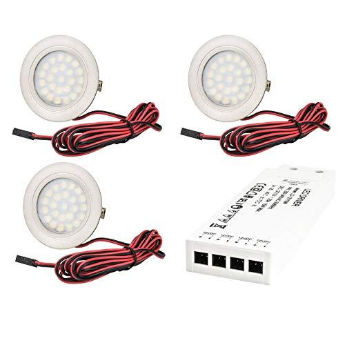 6er Set LED Möbelstrahler Tamara 12V 3W inkl Kabel /& Stecker Trafo /& Verteiler