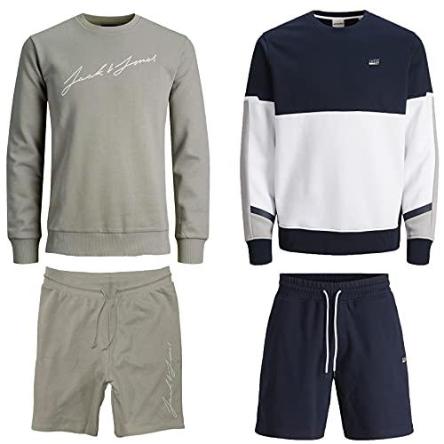 JACK & JONES Herren Sommer Box Sweat Hoodie T Shirt Trunk Boxershort Shorts Kurze Hose Sport Bermuda S M L XL XXL (XXL, Sommer Box 8)