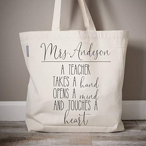 Bolsa de lona para profesor, regalo de vuelta al colegio, personalizable, para profesor, profesor, profesor, profesor, para profesor, bolso de mano