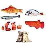 😸[Cataire Cat Jouets]---Le produit dispose de 5 différents poissons, il pourrait être satisfait de votre chat dans différentes nécessaires et vous jouez plus longtemps du temps et en profiter. 🐟[Matériel]---Les jouets pour animaux de compagnie sont f...