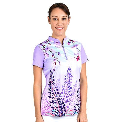 SAVALINO Women's Bowling Shirts, Professional Bowling Jerseys, Ladies Tops S-4XL Lilac