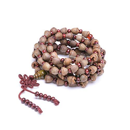 JONJUMP Nepal Bodhi Bracelet 108 Tibetan Buddhist Rosary Necklace Natural Fragrance Mala Healing Prayer Bracelet for Men Women