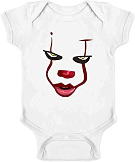 Pop Threads Clown Face Horror Scary Movie Halloween Costume Infant Baby Boy Girl Bodysuit