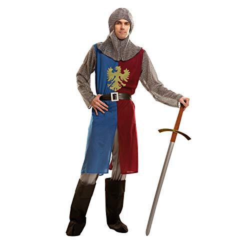 My Other Me-costume da cavaliere medievale per uomo, S, colore: blu/bordeaux (Viving Costumes 202791)