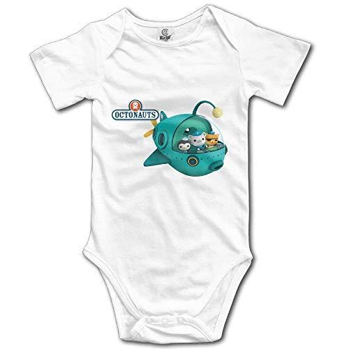 WlQshop Oktonauten Unisex Kurzarm Bodysuit Strampler Jumpsuit Outfits für Baby Gr. 18 Monate, weiß