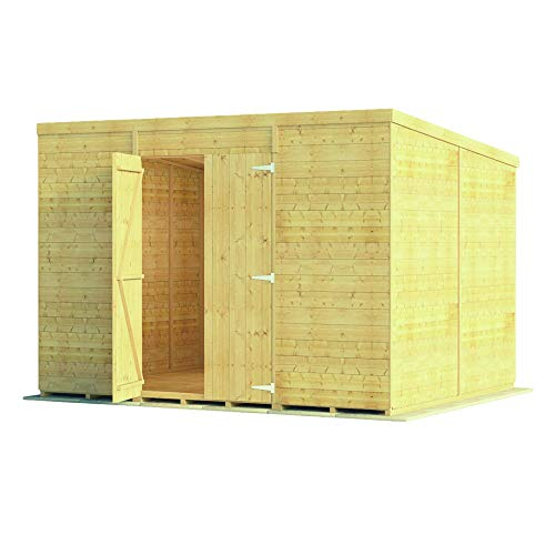 BillyOh 10x8 Pressure Treated Windowless Expert Tongue and Groove Pent Workshop