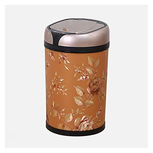Cubo de Basura La papelera creativa de la basura con la tapa de la tapa Smart Basura puede abrir la tapa abierta automática y el contenedor de basura activado por movimiento, alimentado por baterías (