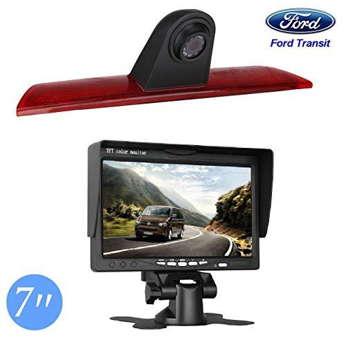 """HD 720p Dritte Dach Mount Bremsleuchte Kamera Bremslicht Einparkkamera Rückfahrkamera Set Nachtsicht Kamera + 7\"""" Zoll Monitor TFT Bildschirm Display kompatibel für Ford Transit Jumbo F150/F250/F350"""