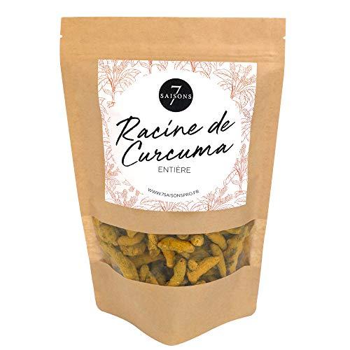 Curcuma - Racines - Sac de Kraft de 55 gr - Saveur Exceptionelle - 7 Saisons