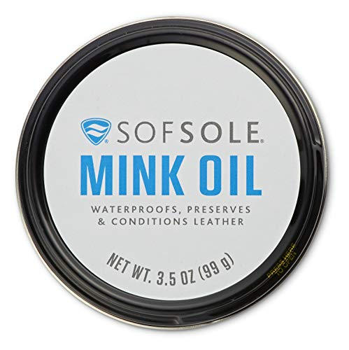 Sof Sole Mink Oil for Conditioning and Waterproofing Leather, 3.5-Ounce