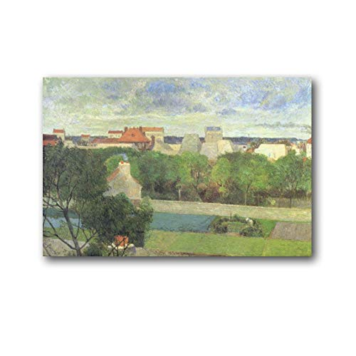 Paul Gauguin The Market Gardens of Vaugirard Obras de arte en lienzo para sala de estar, arte estético, decoración moderna para el hogar, regalos enmarcados, 60 x 90 cm