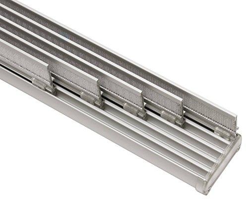 GARDINIA Komfort Flächenvorhangschienen Komplett-Set, 5-läufige Schiene, Aluminium, 280 cm