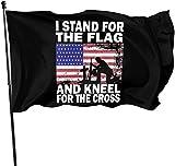 YeeATZ Ständer für die Fahne Knie für die Kreuzflagge 90 x 150 cm, stabil, langlebig, für...