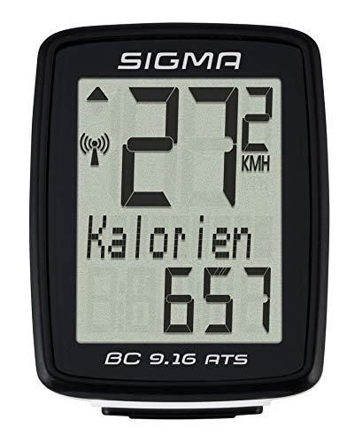 Sigma 09162 Ciclocomputador, Unisex adulto, Negro, Única