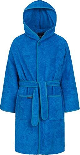 Morgenstern Bata de Baño Rizo de Algodón Niños Capucha Azul Talla 146-152 cm Albornoz niño 11 años Albornoz niño 12 años