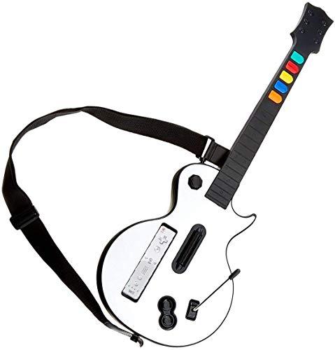 Wii Guitarra,DOYO Controlador de Guitarra Wii desmontable, Nintendo Wii Guitar Hero y Rock Band Game para Guitarra Inalámbrica.