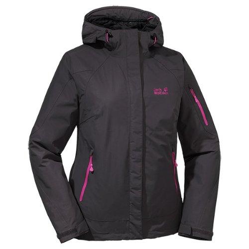 Jack Wolfskin Damen Wetterschutzjacke Affinity Jacket Women, Dark Steel, XL
