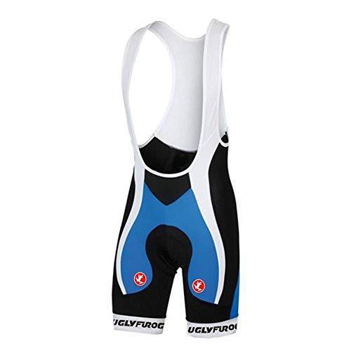 Culotte de ciclismo HBS09 de Uglyfrog con tirantes y almohadilla de gel, prenda deportiva o de triatlón para verano, hombre, color Color 01, tamaño talla mediano