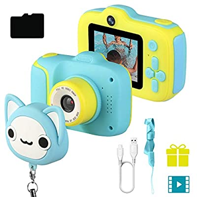 Etpark Kids Selfie Camera, Children Digital Camera Toys with 28 Funny Filters, 1080P PHD Video Recorder, Supports Small Games, Great Gift for 3-10 Year Old Boys Girls with 32GB SD Card from Etpark