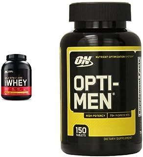 Optimum Nutrition Gold Standard 100% Whey Protein Isolate Powder, Banana Cream, 5 Lb (2.27 Kg) + Optimum Nutrition Opti-Me...