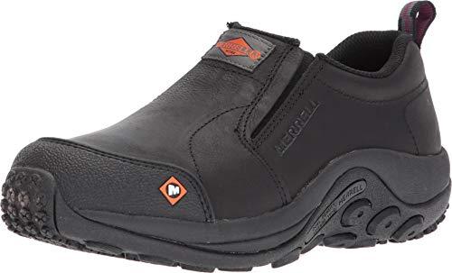 Merrell Women's Jungle Moc Slip Resistant Work Shoe Construction, Black, 9.5 M US