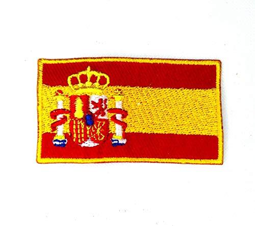 Parche bordado con bandera nacional de España para coser o planchar