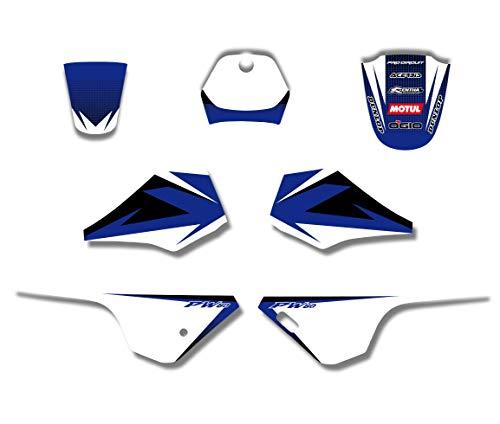 28MIL Motorrad Graphics Aufkleber Aufkleber Hintergrund-Kits for Yamaha PW 80 Pit Fahrrad Autocollants Graphiques De Moto