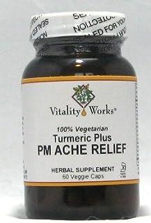 Turmeric Plus PM Ache Relief Vitality Works 60 Caps