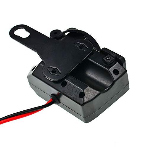 HJDQ Toma del Encendedor - Motocicleta Dual del USB del Adaptador del zócalo del Enchufe con Pantalla Digital para el Coche del Barco Marino Motocicleta Vespa RV, del Asiento del Espejo