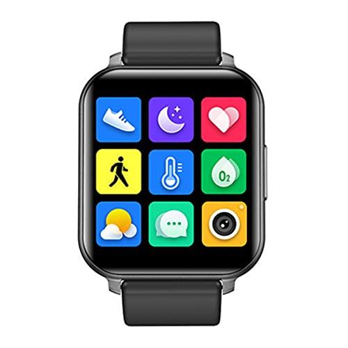 Reloj Inteligente para hombre,Llamada de soporte,Smartwatch Deporte Ftiness tracker mujer,Oxigeno en Sangre Ritmo cardiaco Monitoreo del Sueño,IP67 resistencia al agua(Size:UN TAMAÑO,Color:NEGRO)