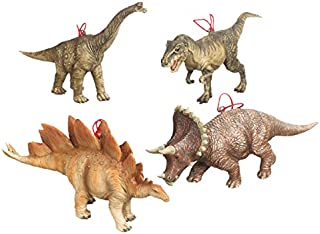 Dinosaur Christmas Ornaments - Set of 4