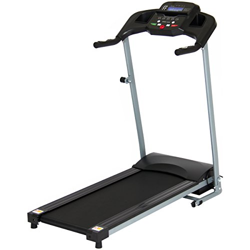 Best Choice Products 800W Portable Folding Electric Motorized Treadmill Machine w/Rolling...