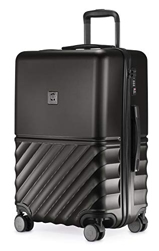 HAUPTSTADTKOFFER - Boxi - Hartschalen-Koffer Koffer Trolley Rollkoffer Reisekoffer TSA, 4 Rollen, 65 cm, 70 Liter, Schwarz