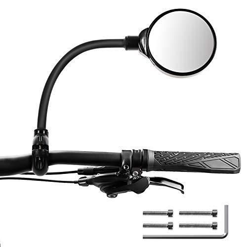 Espejo retrovisor para bicicleta, 360°, flexible, convexo, ajustable, para bicicleta, universal, giratorio, gran angular, para bicicleta de montaña, ciclomotor, ciclomotor, silla de paseo
