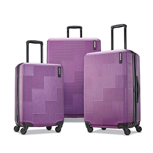 American Tourister Stratum XLT Expandable Hardside Luggage with Spinner Wheels, Power Plum, 3-Piece Set (20/24/28)
