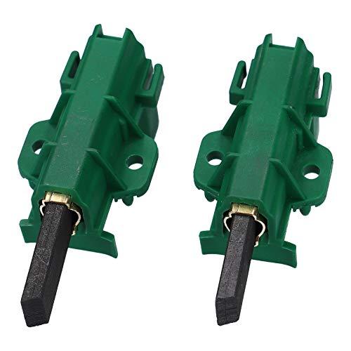 DL-pro Juego de escobillas de motor para Beko Blomberg 371202407 371202405 L24MF7 Candy Hoover 49028930, carbón verde para lavadora WMB WMD WTV