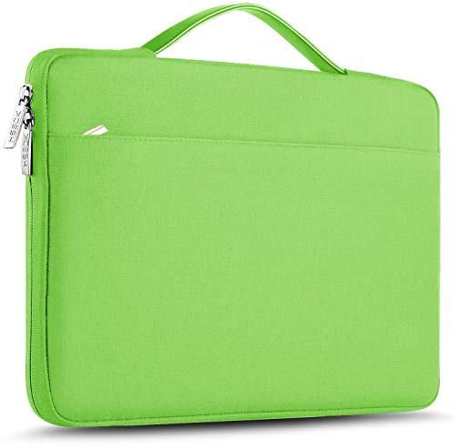 ZINZ Maletín 15 15,6 16 Funda Portátil Impermeable para 15-16 Pulgadas MacBook Pro 16 15, Surface Laptop 3 15,XPS 15 Laptop Ultrabook Netbook, DELL HP Lenovo Acer ASUS y más, Verde Claro