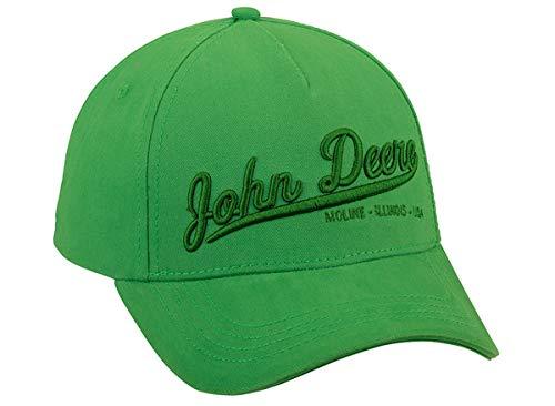 John Deere - Gorra de béisbol con texto en 3D, color verde