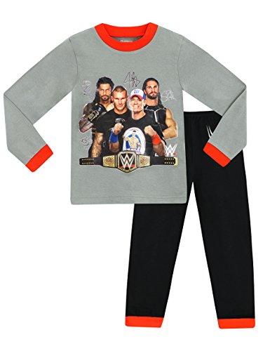WWE 100% Cotton Wrestling Pyjama und langärmliges T-Shirt Set für Jungen 8-9 Jahre Mehrfarbig
