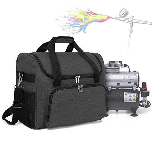 Teamoy Airbrush Kompressor Tasche, Aufbewahrungstasche für Airbrush-Komplett-Set, Tragetasche für Airbrush-Set mit Kolbenkompressor und Andere Zubehörs, Schwarz