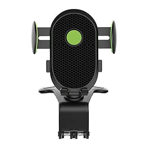 Soporte universal para teléfono de coche con rejilla de ventilación 360 Rotación para coche con clip ajustable, color negro y verde