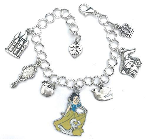 Charm bracelet with snow white theme - princess