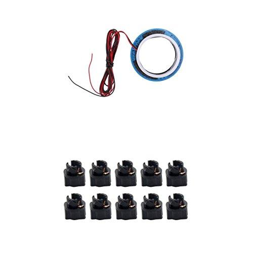 Homyl Repuesto Decorativo de Interruptor de Encendido y Tuercas de Tablero de Instrumento para Reparación y Reemplazo de Carros