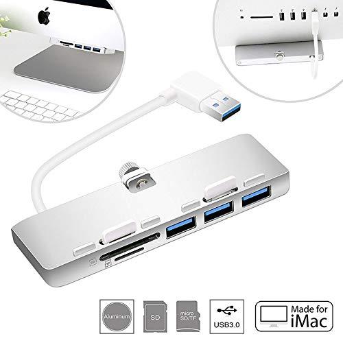 ASEDRF Imac Hub Aluminium USB Hub Adapter Dockingstation Mit Mikro-SD & Micro SD Kartenleser Combo Und 3 USB 3.0-Port Kompatibel Mit 2017 Imac Und Imac Pro