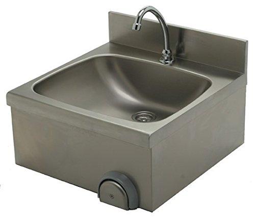 Lavabo (500 x 500 x 235 mm, acero inoxidable)
