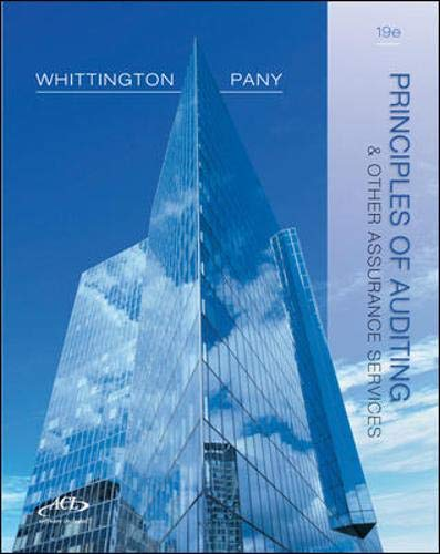 Principles of Auditing and Other Assurance Services, 19th Edition