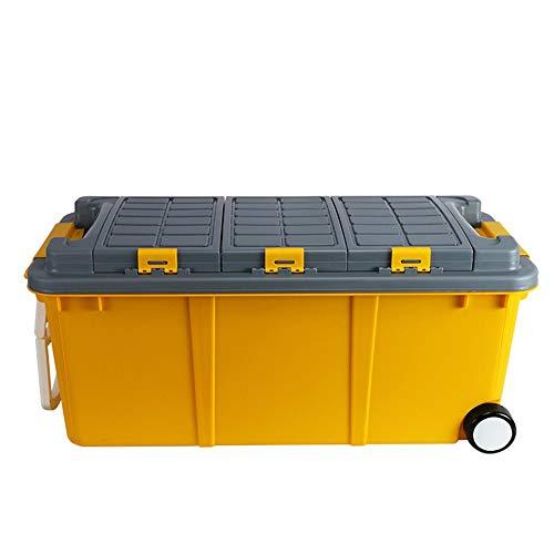 Kanqingqing kofferbak-organizer voor vrachtwagen, gereedschapskisten, opslagplaatsen met deksel, kunststof, stapelbaar voor auto, vrachtwagen, SUV en binnen