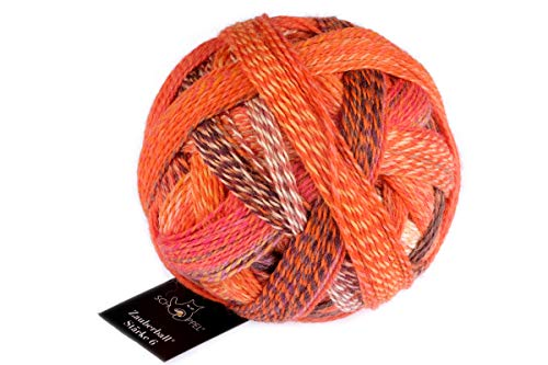 Schoppel Zauberball Stärke 6, 150 Gramm, bunte, dicke Sockenwolle 6-fädig mit Farbverlauf, Socken stricken, häkeln